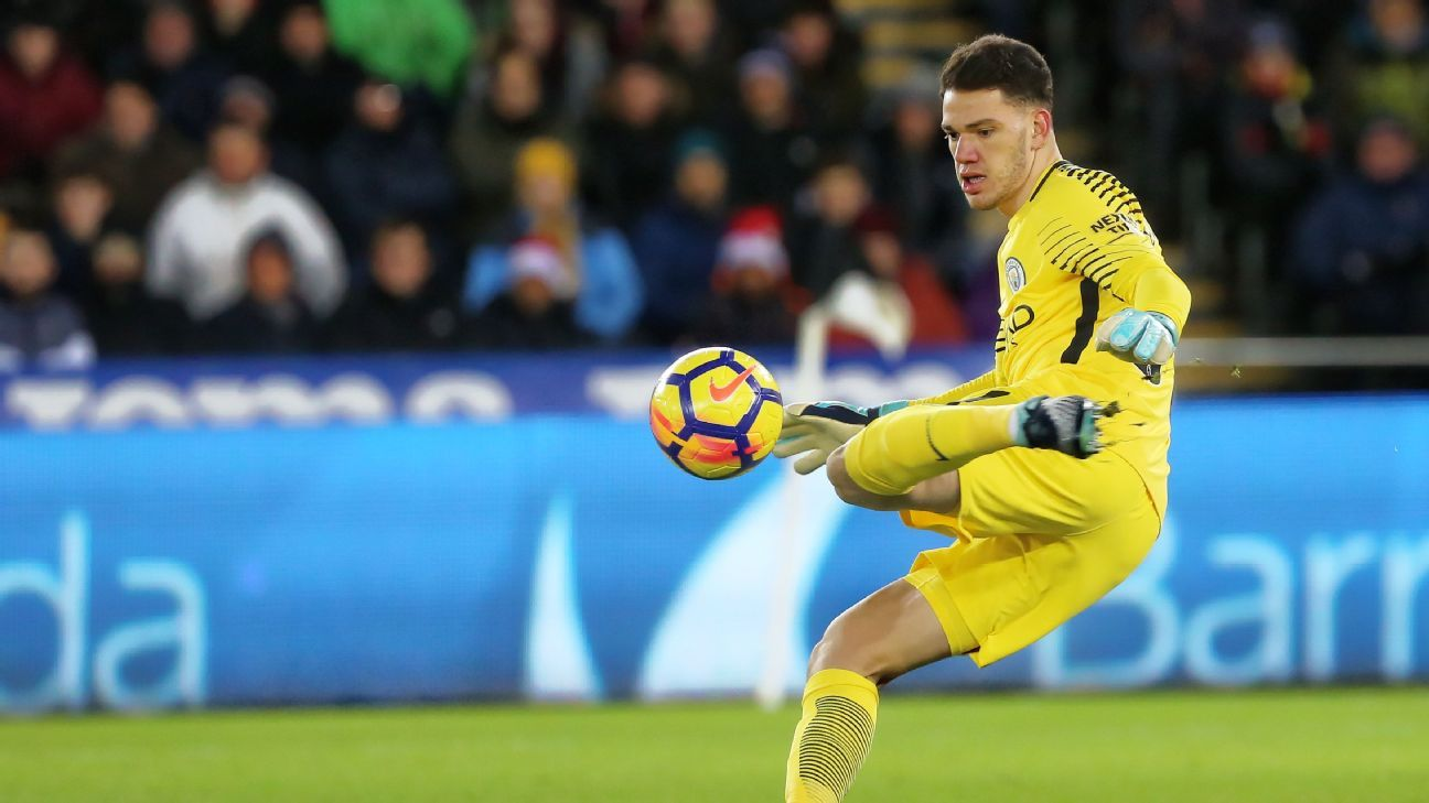 a6a69cb7c Guardiola justified as Man City s Ederson reinvents goalkeeping ...
