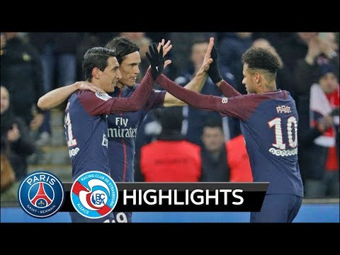 PSG vs Strasbourg 5-2 - All Goals & Extended Highlights - 17/02/2018 HD