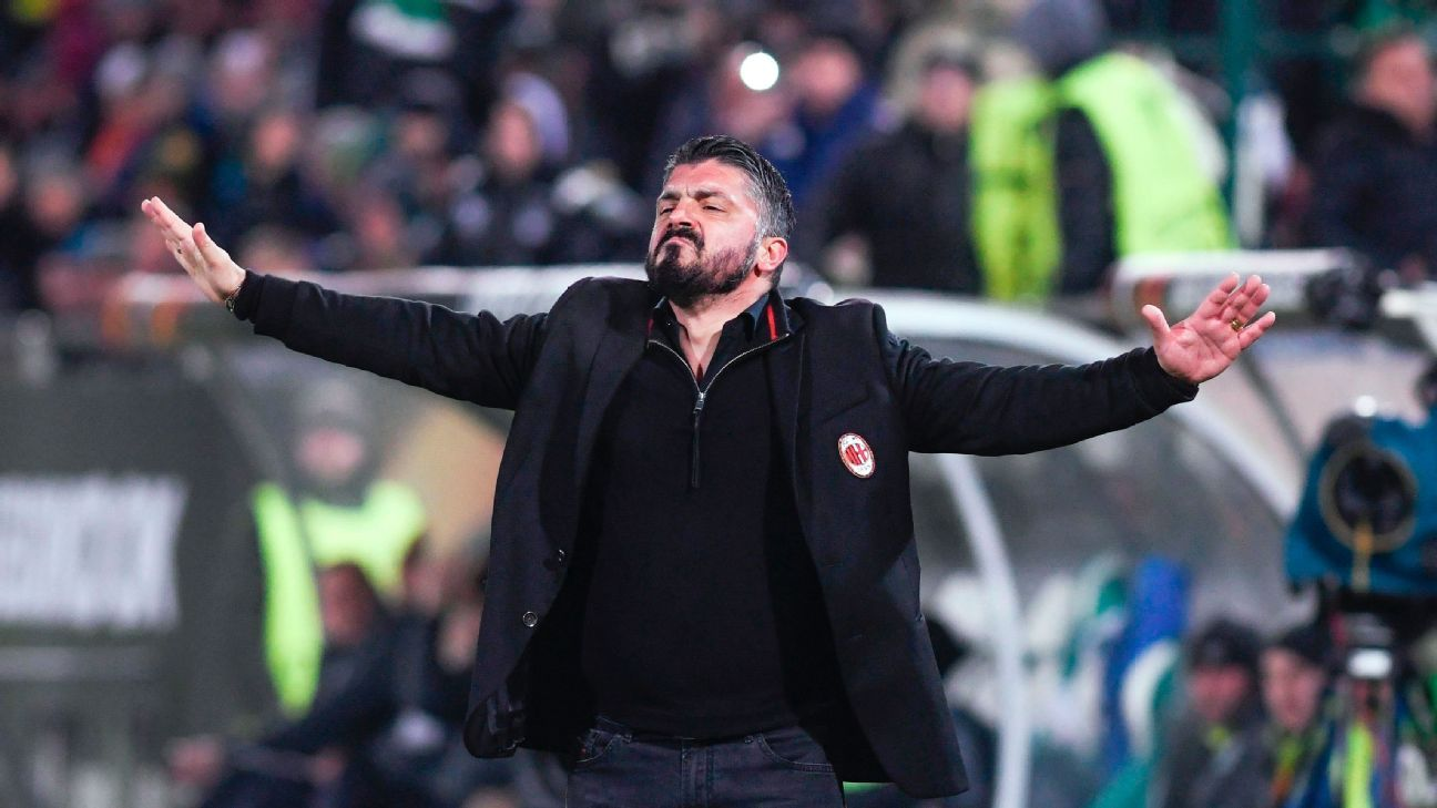 Gennaro Gattuso: Coaching AC Milan is easy because of players' work
