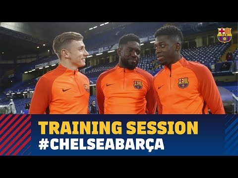 Training session at Stamford Bridge