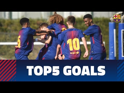 FCB Masia – Academy: Top 5 goals 17-18 February