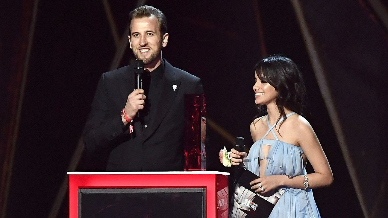 Harry Kane presents Brit with Camila Cabello, trolled by Arsenal fan host