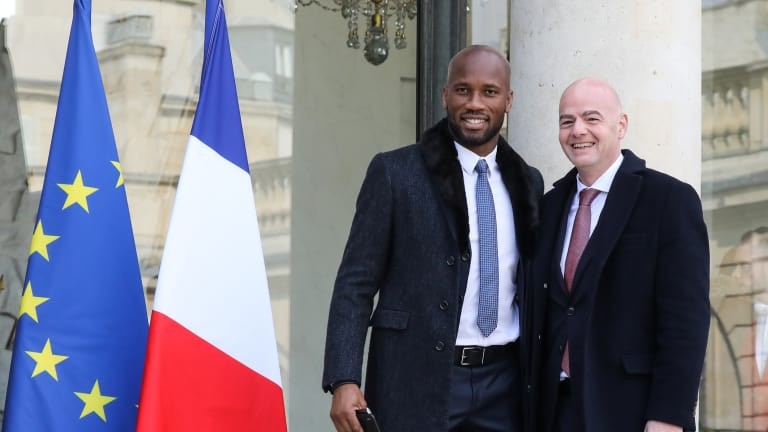 Presidents and goalscorers meet at the Elysee Palace