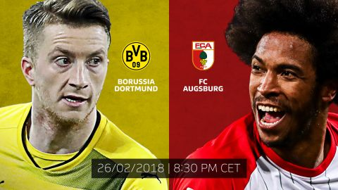 Dortmund vs. Augsburg: LIVE build-up! Marco Reus and Co. are unbeaten in 2018 ahead of Augsburg's visit on Monday night. vor 2 Stunden