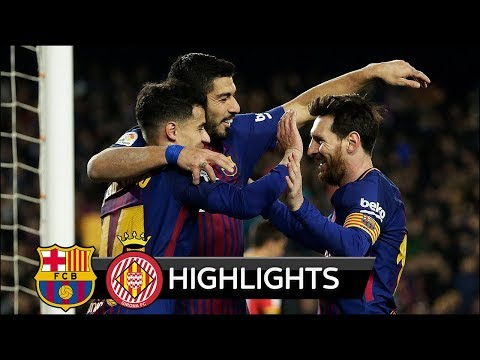 Barcelona vs Girona 6-1 - All Goals & Extended Highlights - La Liga 24/02/2018 HD