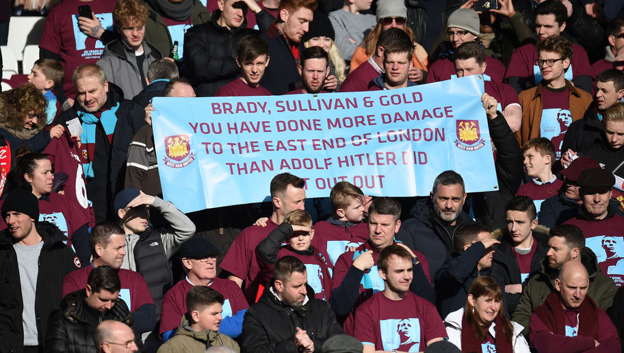 West Ham Fans Criticised on Twitter for Adolf Hitler Banner Held Up During 4-1 Liverpool Loss