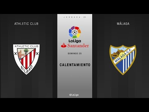 Calentamiento Athletic Club vs Málaga