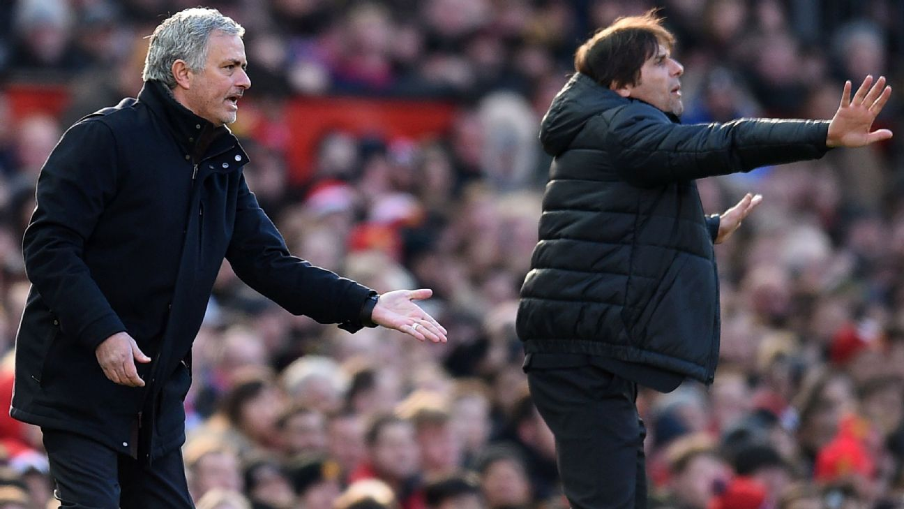 Mourinho's changes help seal Man United's win vs. Conte's Chelsea