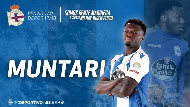 Ghana midfielder Sulley Muntari handed number 21 shirt at Deportivo La Coruna
