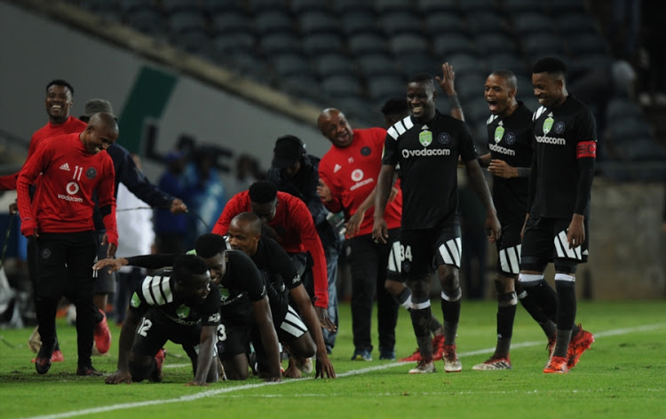Orlando Pirates winger Bernard Morrison taunts former coach Muhsin Ertugral  after brace against Ajax Cape Town