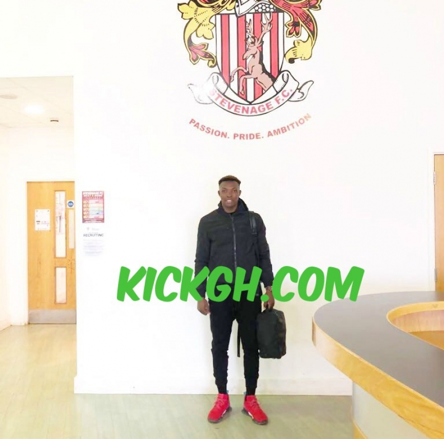 Hugely talented Ghana U17 forward Rudolf Blagogee training with English side Stevenage FC