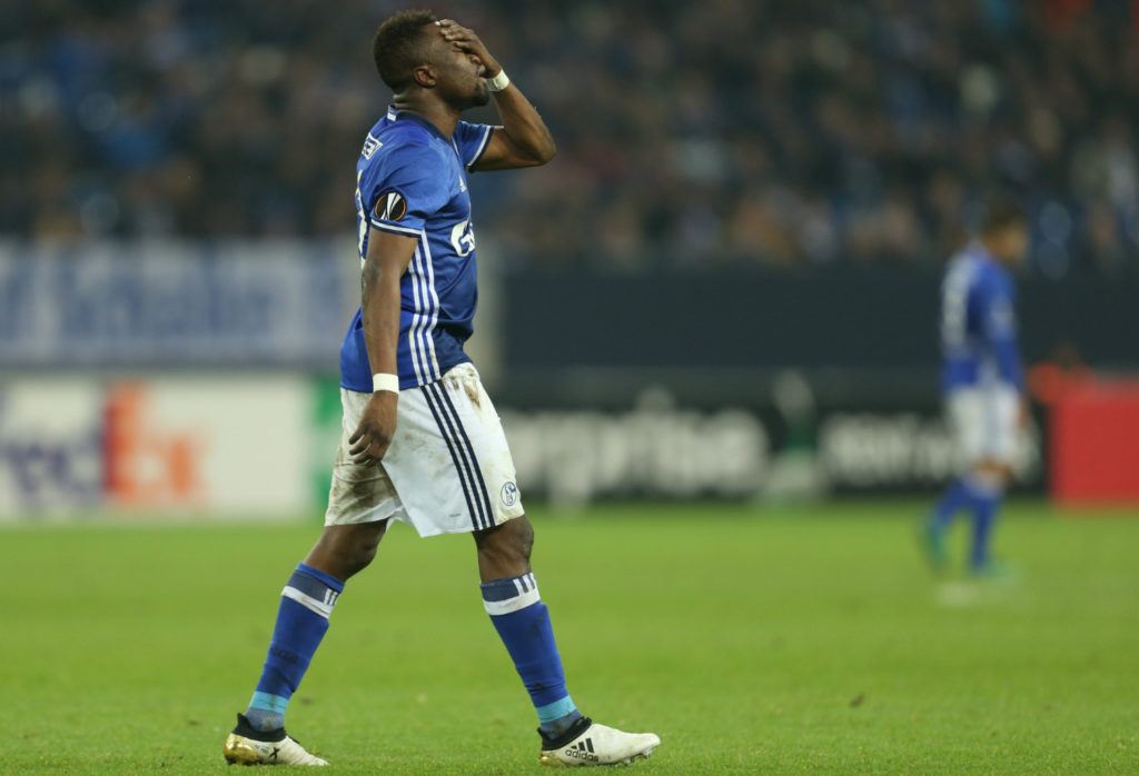 Firefighters break into Bernard Tekpetey's home in Schalke to deal in with a smoking cooking pot while away at Bundesliga match