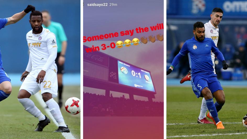 Hadjuk Split Striker Ahmed Said Taunts El Arabi Soudani After Win Over Dinamo Zagreb Ghana Latest Football News Live Scores Results Ghanasoccernet