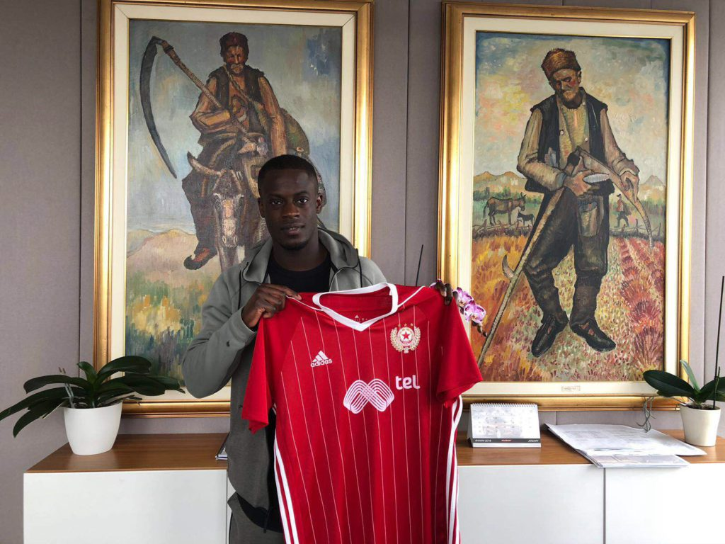 CSKA Sofia winger Edwin Gyasi stretchered off in pain after cynical attack in derby clash with Levski Sofia