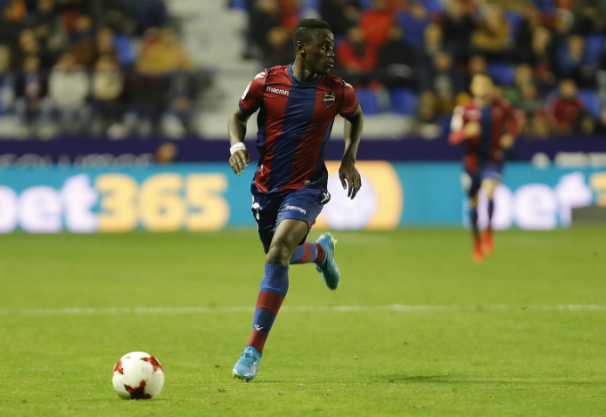 Ghanaian striker Emmanuel Boateng secures a point for Levante with a stupendous strike against Real Madrid