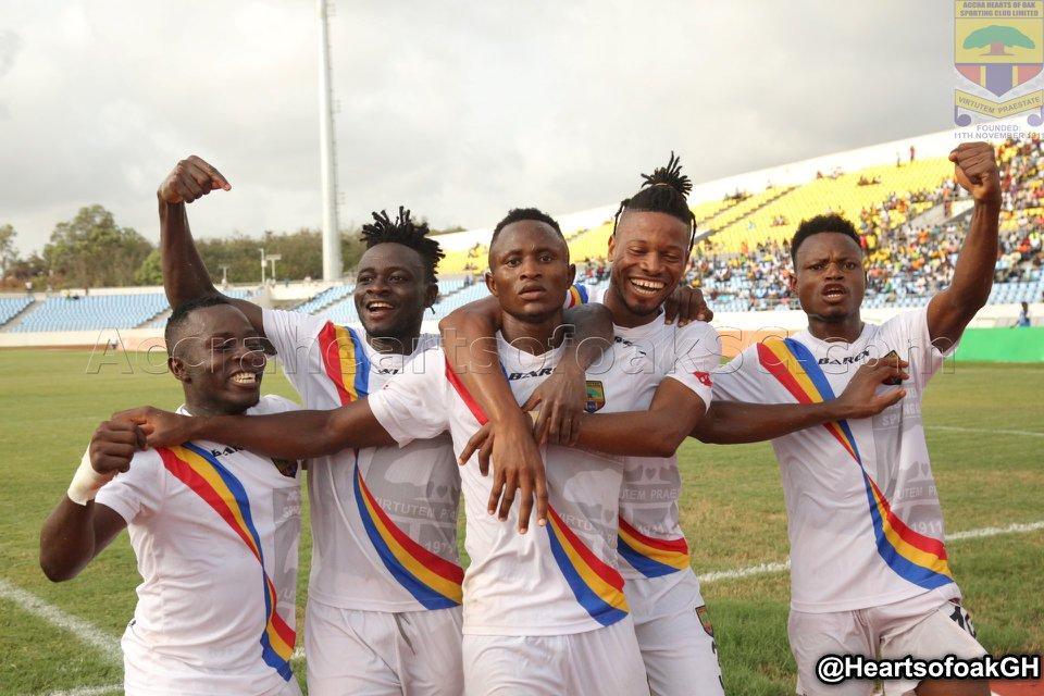 Video: Watch highlights of Hearts of Oak's 2-0 win over Ebusua Dwarfs