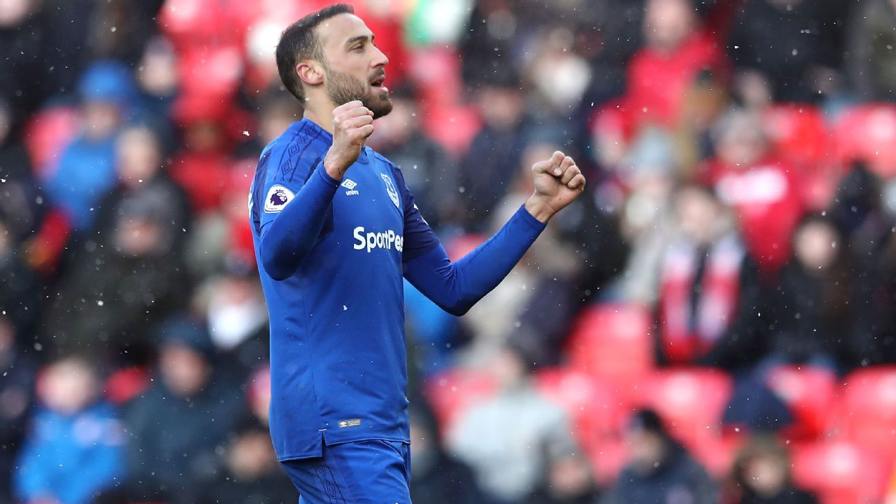 Cenk Tosun's form building at Everton with another solid 8/10 performance