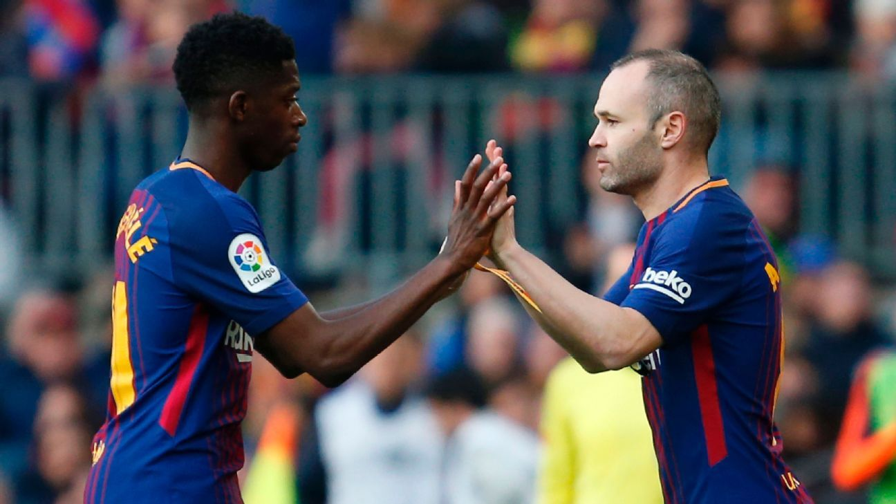 'Iniesta stay' chants from Barcelona fans abound at Camp Nou