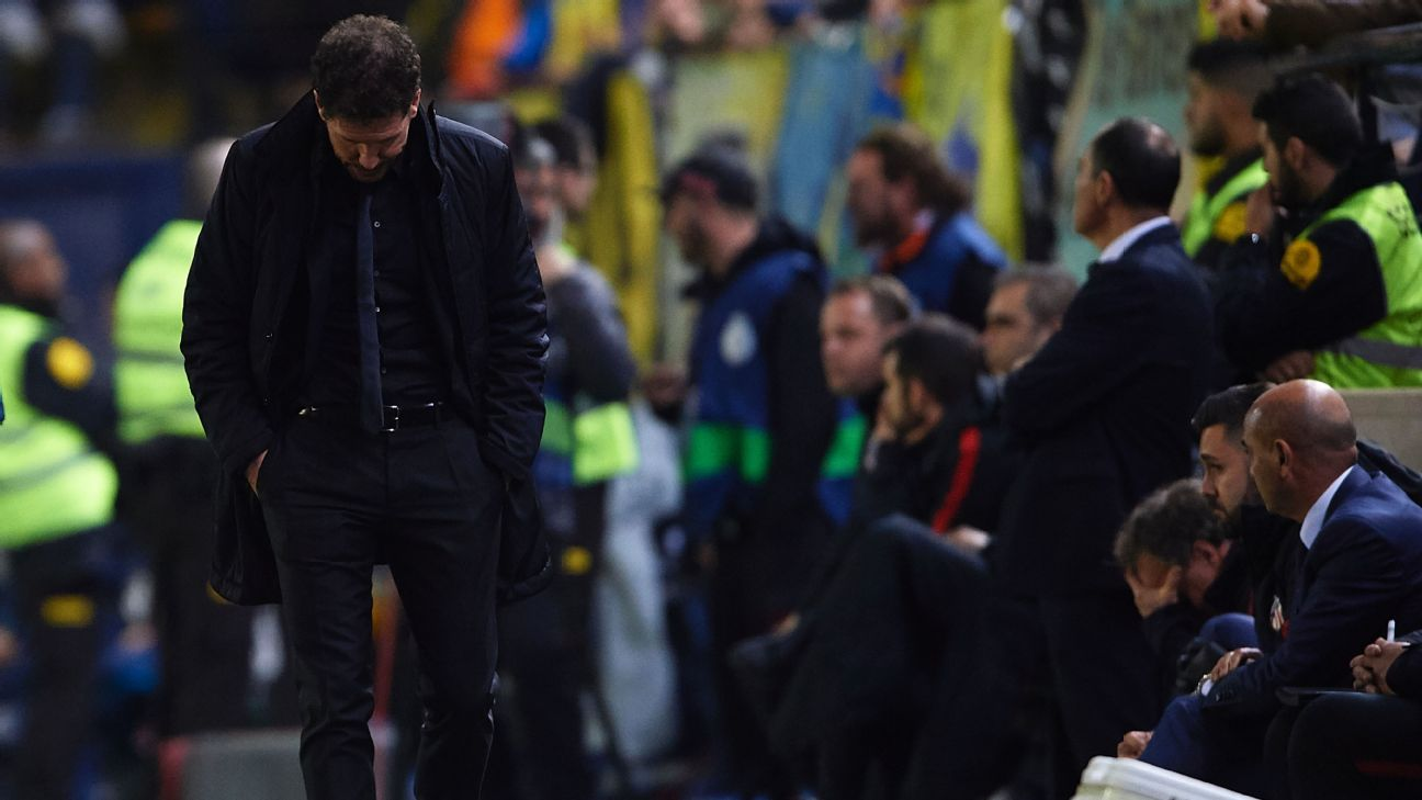Diego Simeone accepts fault as Atletico fall: 'I lost the game, not the players'