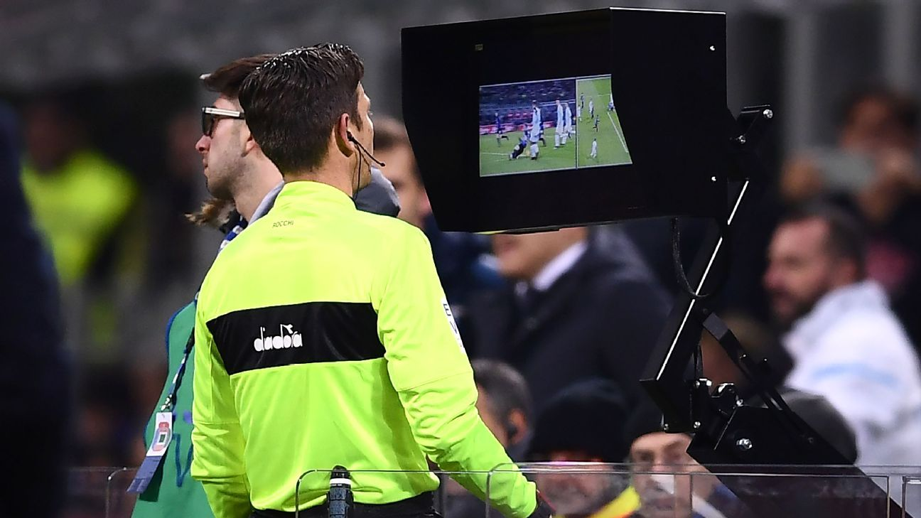 Lazio fans protest against VAR outside Italy's FA headquarters