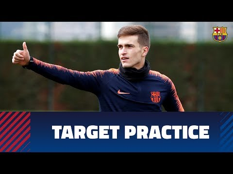 Shooting practice at Tuesday's training session