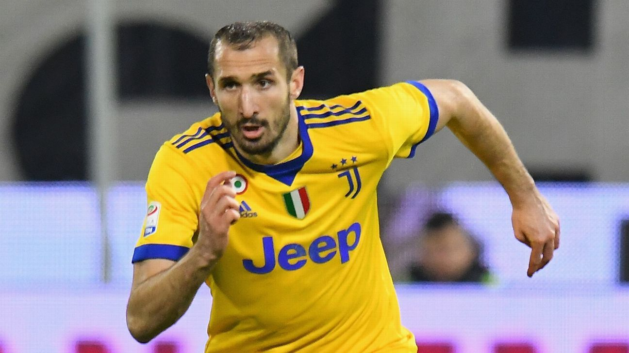Juventus' Giorgio Chiellini on course to recover in time for Real Madrid clash
