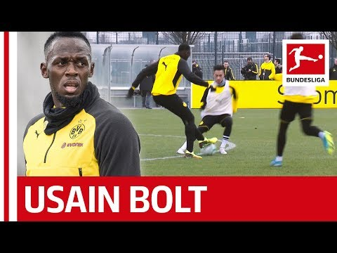 Usain Bolt´s Training Day at Borussia Dortmund - Skills, Sprints and Nutmegs