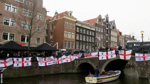 More than 100 England fans arrested over two days in Amsterdam