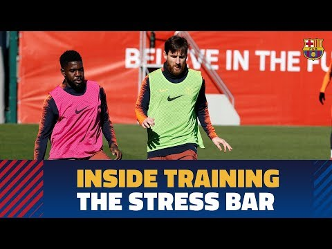 INSIDE TRAINING | Messi & Umtiti and the 'Stress Bar'
