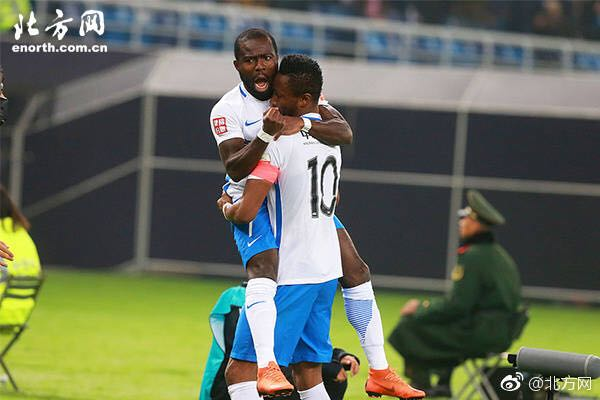 PHOTOS: Explosive Frank Acheampong bags HAT-TRICK as Tianjin Teda edge Tianjin Quanjian in Chinese Super League