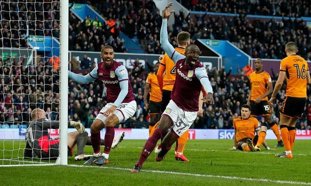 Albert Adomah scores to inspire Aston Villa in thumping leaders Wolverhampton Wanderers 4-1 in Championship