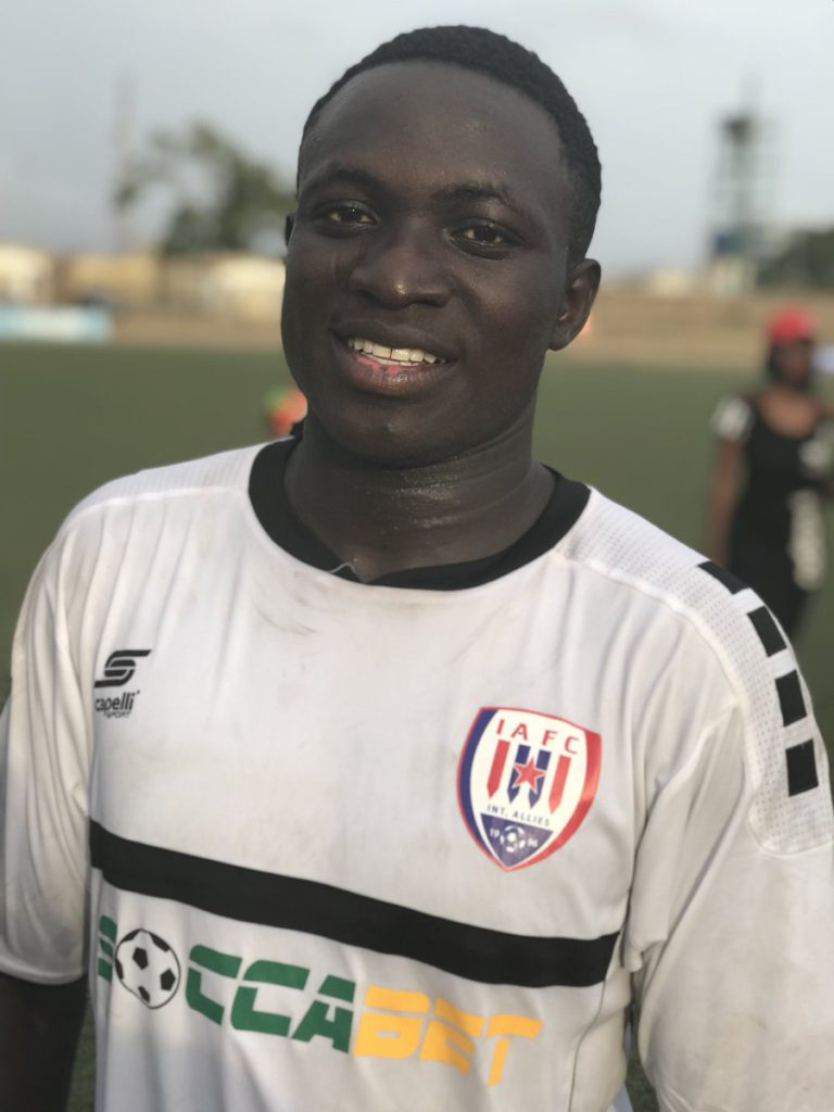 Inter Allies star Victorien Adebayor picks up first man of the match award of the season