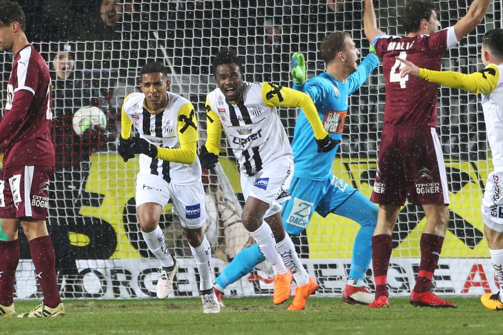 Samuel Tetteh scores as LASK Linz come from behind to beat Mattersburg in Austria