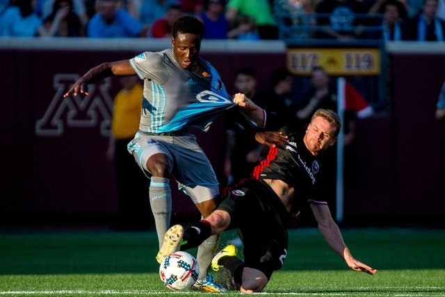 Crocked Minnesota United forward Abu Danladi starts light training