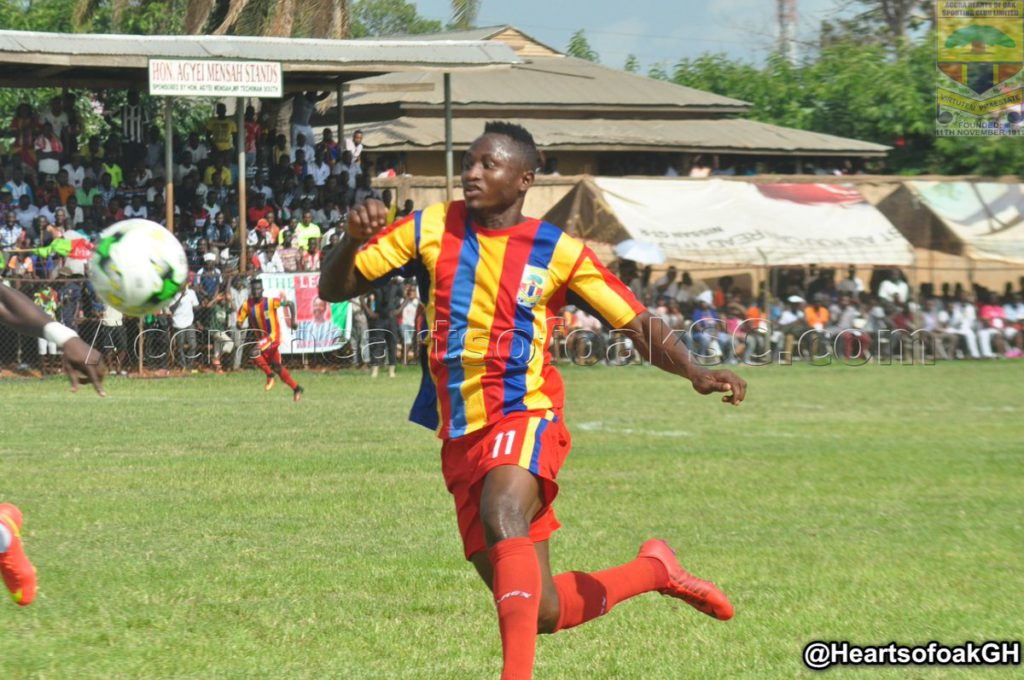 Hearts coach Henry Wellington expects more from striker Joseph Esso after 'goodish' debut
