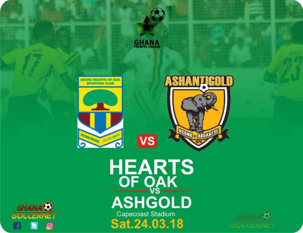 RE-LIVE: Hearts 1-3 AshGold and updates from Wa All Stars 0-0 Dwarfs: 2017/18 Ghana Premier League