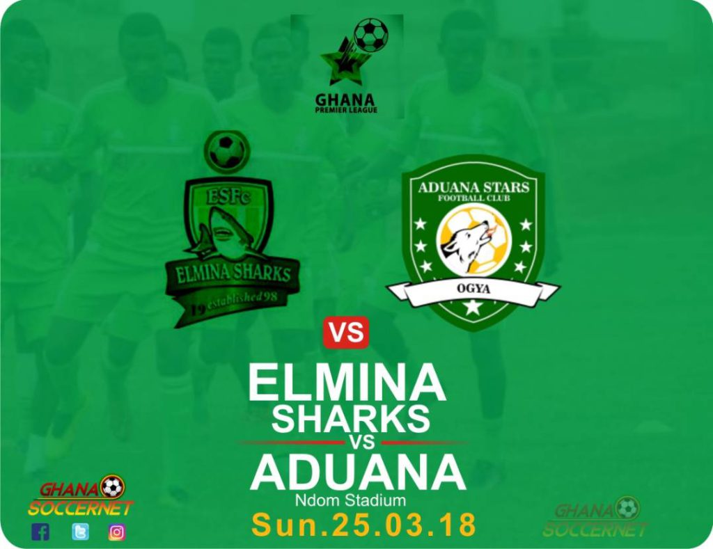 RE-LIVE: Elmina Sharks 0-0 Aduana Stars and updates from all match venues - 2018 Ghana Premier League