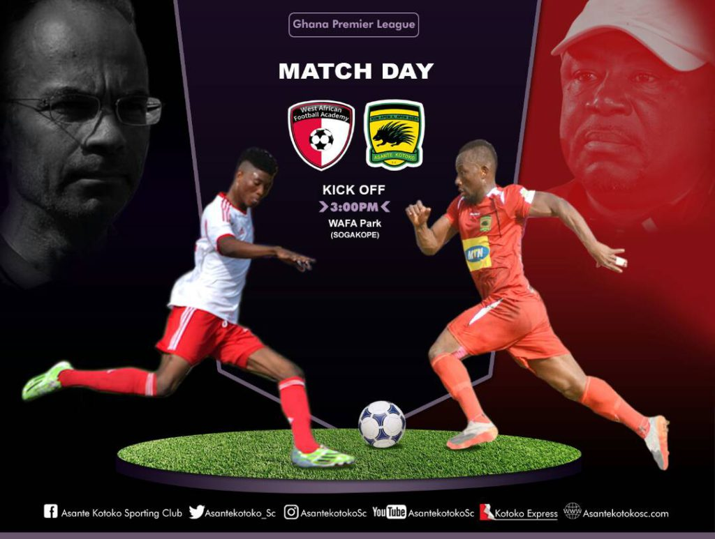LIVE: WAFA 1-0 Asante Kotoko and updates from all matches - 2017/18 Ghana Premier League