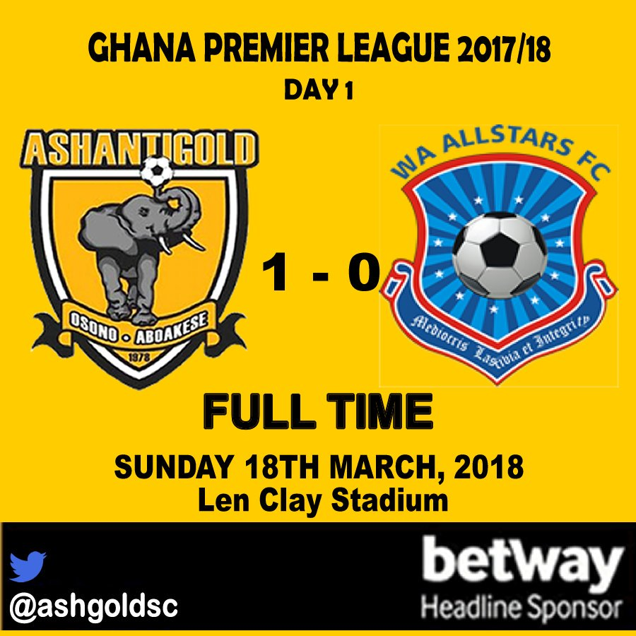 MATCH REPORT: AshGold 1-0 Wa All Stars - New AshGold pip Wa All Stars in league opener