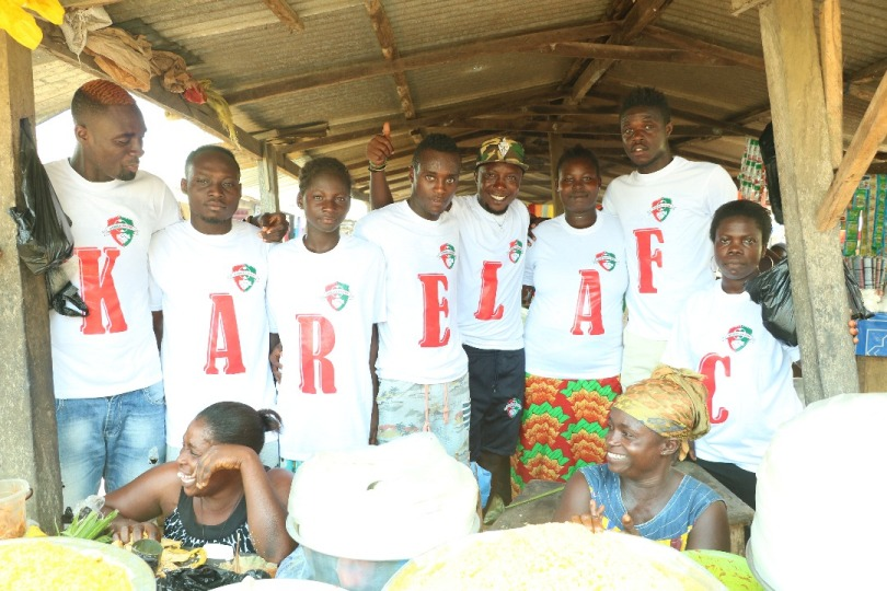 Karela FC players tour local market to promote first ever Ghana Premier League home match