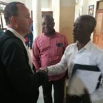 PHOTOS:  Hearts of Oak CEO Mark Noonan interacts with Ghana Premier League administrators