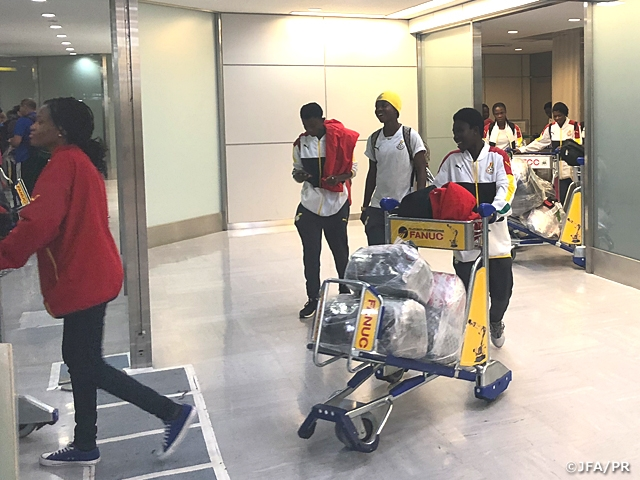 Black Queens arrive in Nagasaki to face Japan in friendly