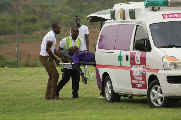 Elmina Sharks goalkeeper Joseph Essam in stable condition after injury scare