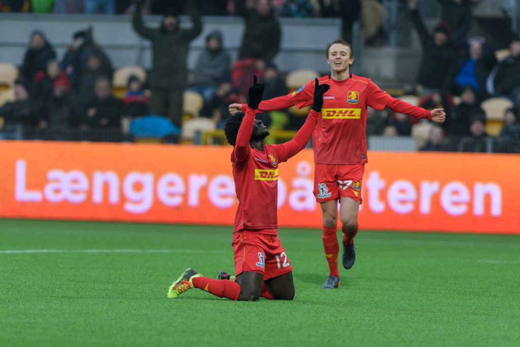 VIDEO: Ernest Asante grabs 14th league goal as Nordsjaelland draw at home with Midtjylland in Danish top-flight