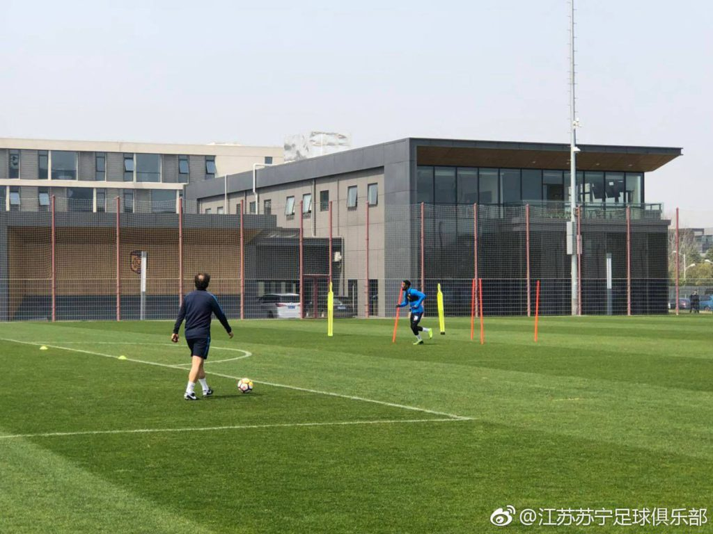 Fit-again Richmond Boakye Yiadom begins training with Jiansung Suning
