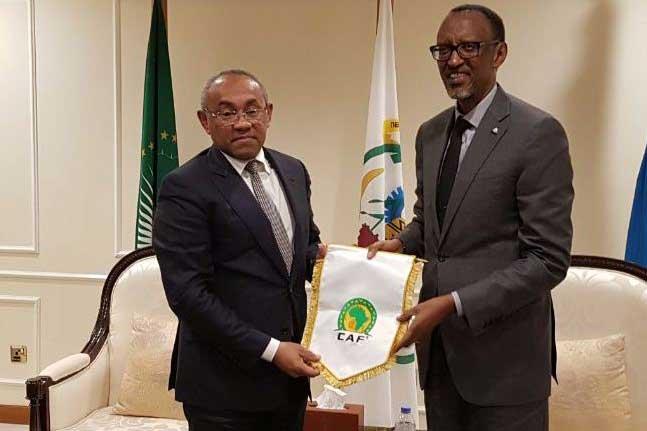 PHOTOS: Rwanda President Kagame backs CAF boss Ahmad for major reforms of African football