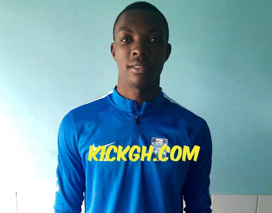 Ghanaian youngster Rudolf Blagogee training with Croatian giants NK Osijek