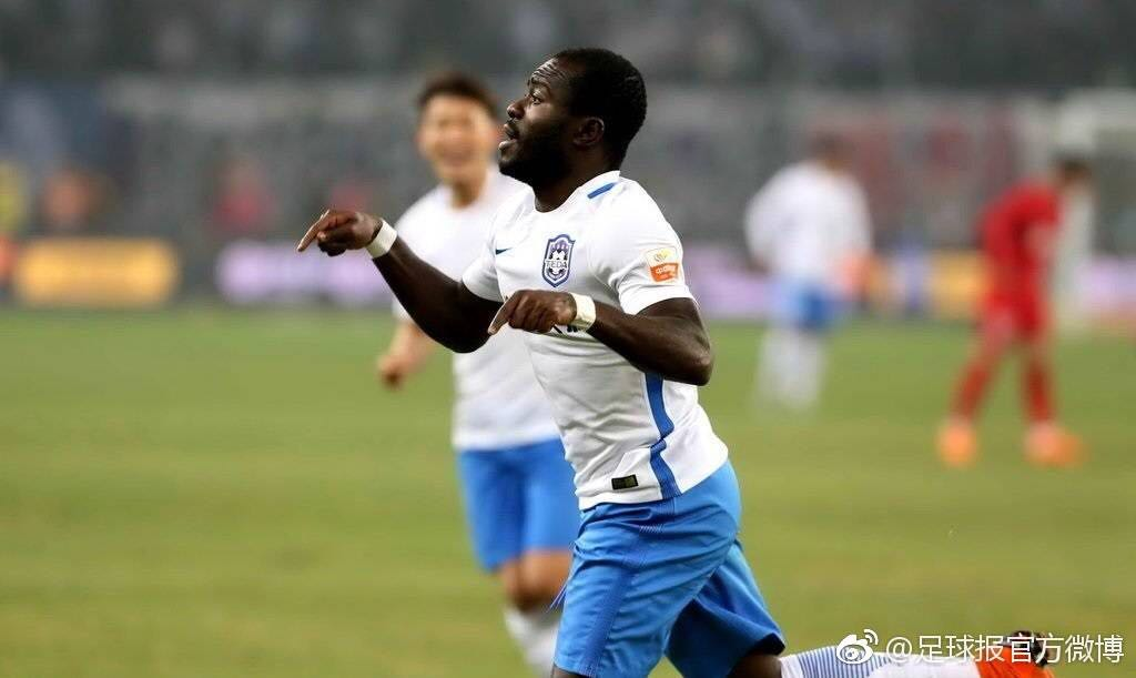 VIDEO: Watch Frank Acheampong's fifth Chinese Super League goal of the season for Tianjin TEDA