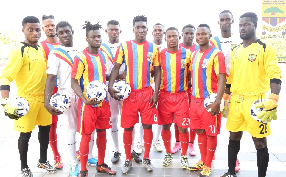 2017/18 Ghana Premier League: Hearts of Oak release squad jersey numbers for upcoming season