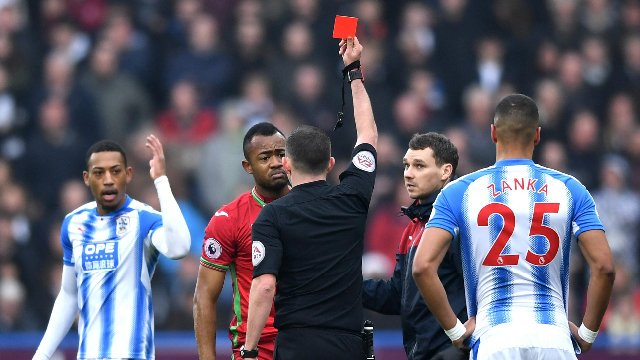 Huddersfield Town boss David Wagner insists Jordan Ayew deserved being sent off